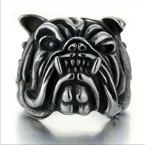 Other - New! Big Chunky Bulldog Ring Unisex SIZE 7